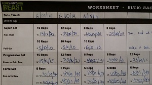 Beast Worksheet Bulk Back