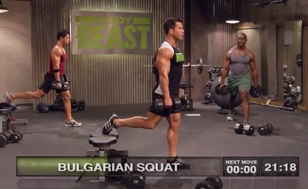 Body Beast build legs bulgarian squat