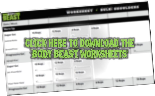 Body Beast Worksheets