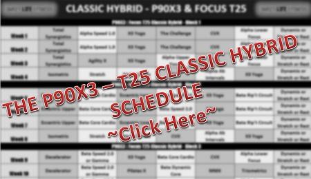 P90X3 T25 Hybrid Classic Schedule