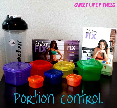 21 Day Fix Week 1 Portions