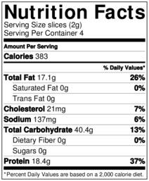 Chicken veggie pizza nutrition