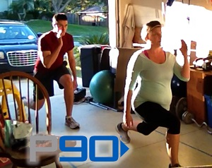 P90 Step Back Lunges