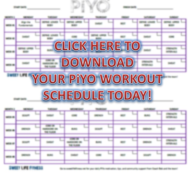 PiYo Workout Schedule
