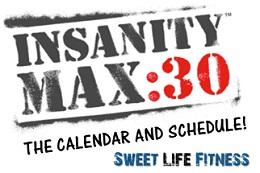 INSANITY Max 30 Calendar