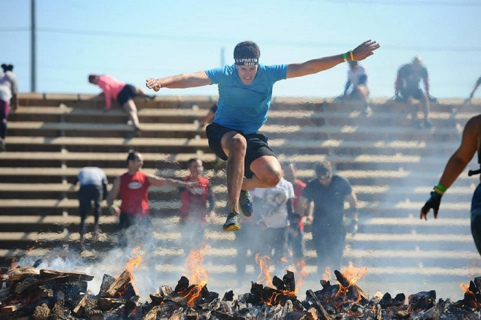 Spartan Race Fire Jump