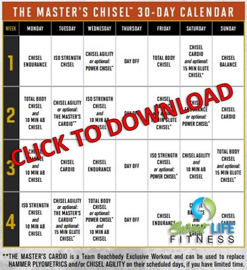 Chisel Calendar Schedule