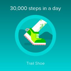 fitbit 30000 step challenge trail shoe badge