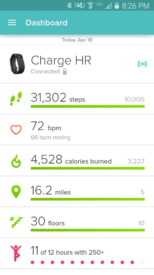 fitbit 30000 step challenge