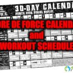 CORE DE FORCE Calendar