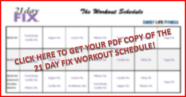 It is an image of 21 Day Fix Workout Schedule Printable throughout workout tracking